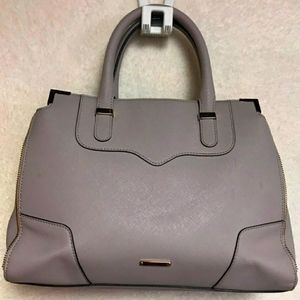 AUTH REBECCA MINKOFF PRETTY GRAY LEATHER LRG BAG